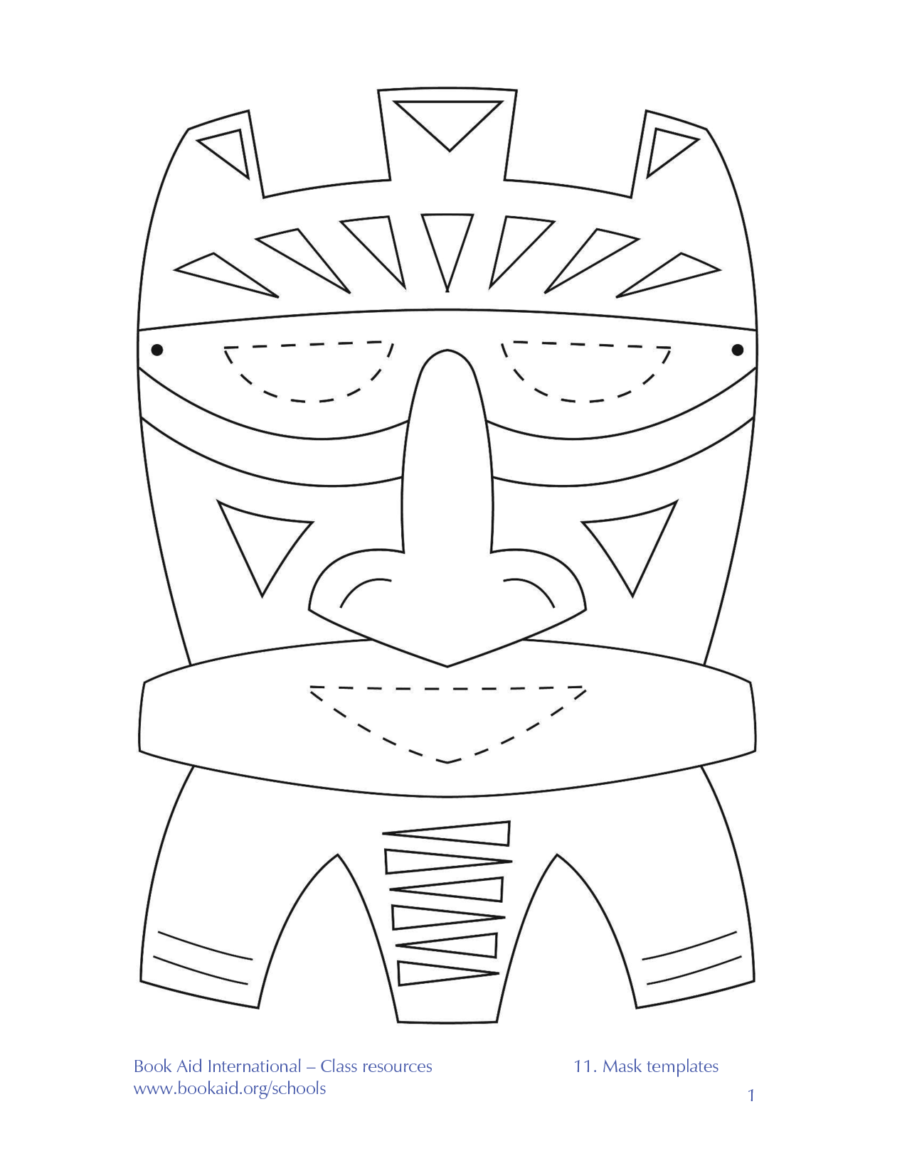 African Mask Templates Printable