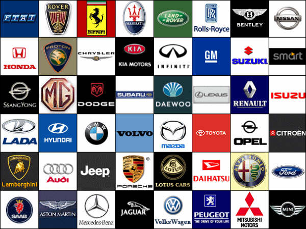 All Car Logos and Names