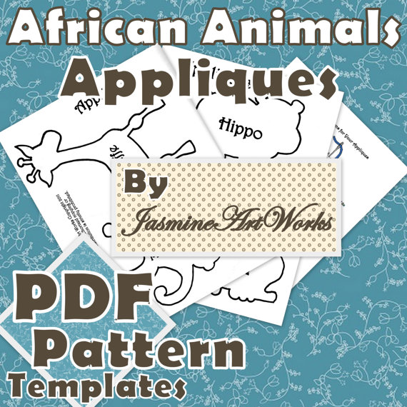 Applique Quilt Patterns Free Printable African Animals