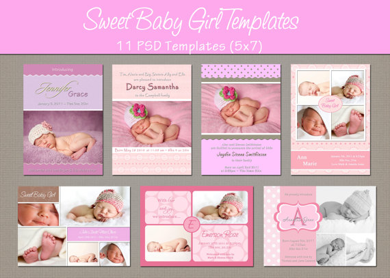 14 PSD Photoshop Templates For Baby Images Free Photoshop Baby – Free Baby Announcement Templates