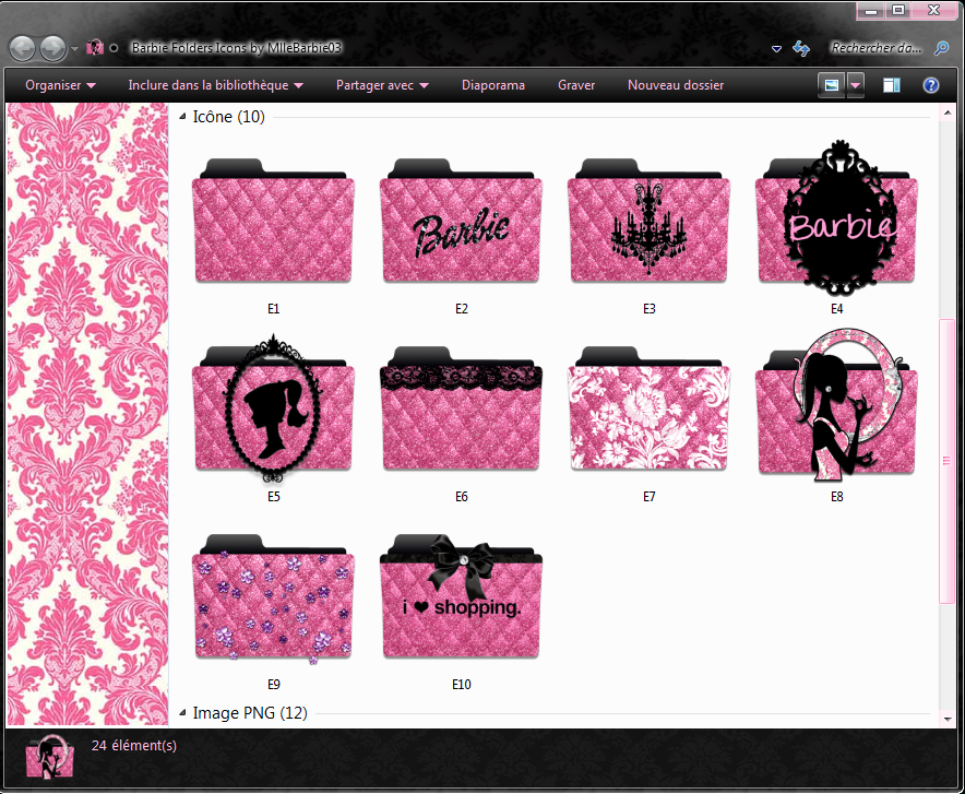 19 Pink Damask Folder Icon Mac Images