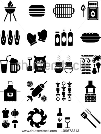 15 Barbecue Icons Vector Images