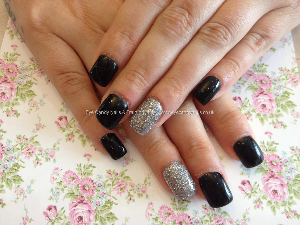 7 Black And Silver Acrylic Nail Designs Images , Black and