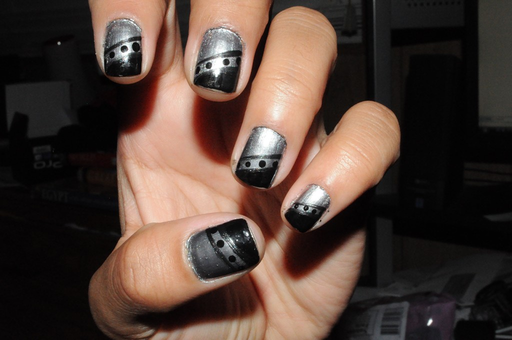 7 Black And Silver Acrylic Nail Designs Images
