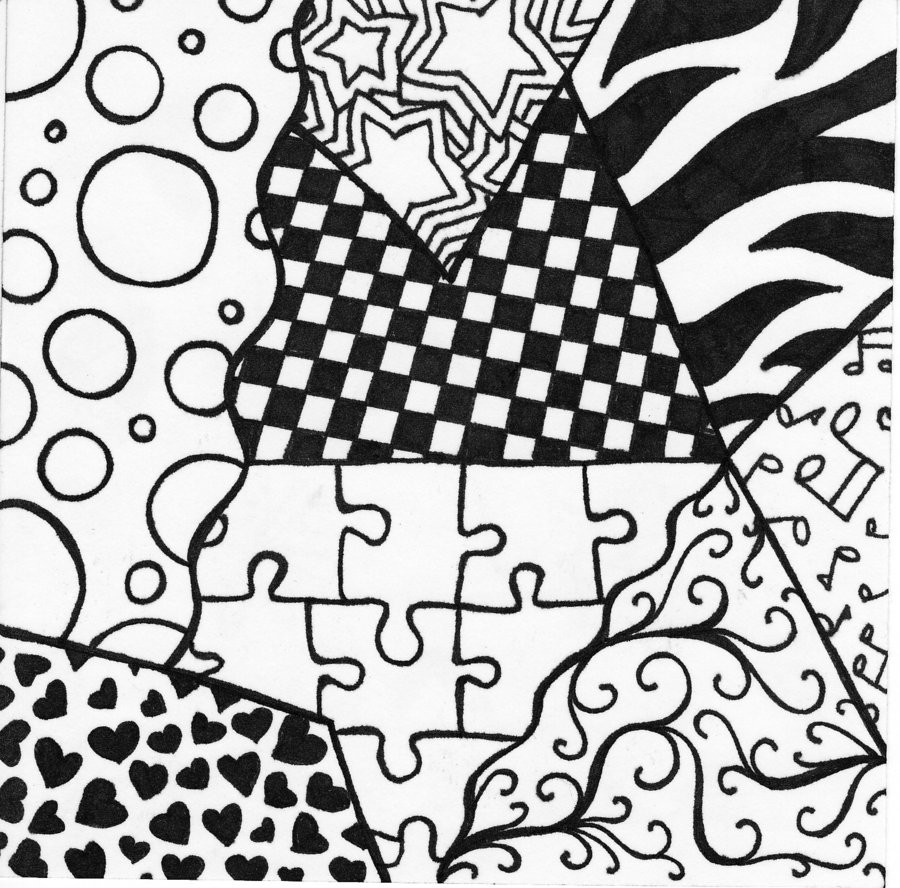 Black And White Doodle