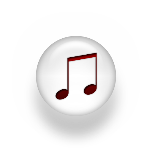 15 Red And White Music Icon Images