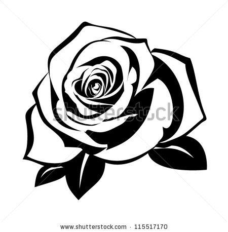 Black Rose Silhouette Vector
