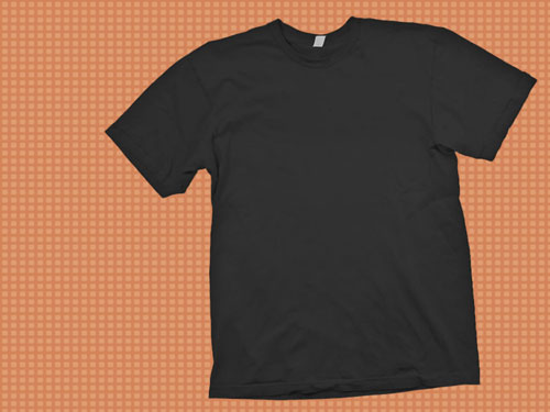 Black T-Shirt Mockup Template PSD