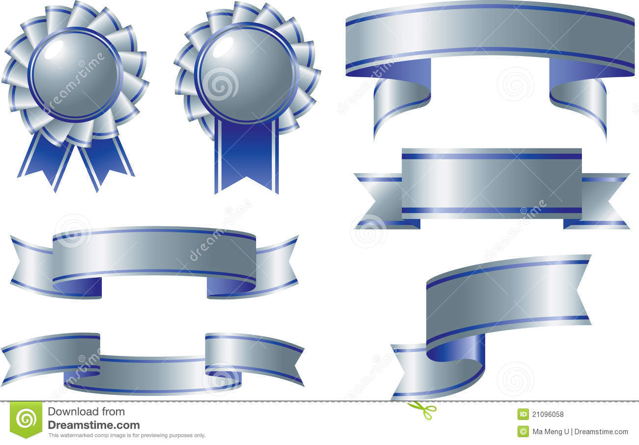 Blue Silver Ribbon Banner Related Keywords - Blue Silver ...