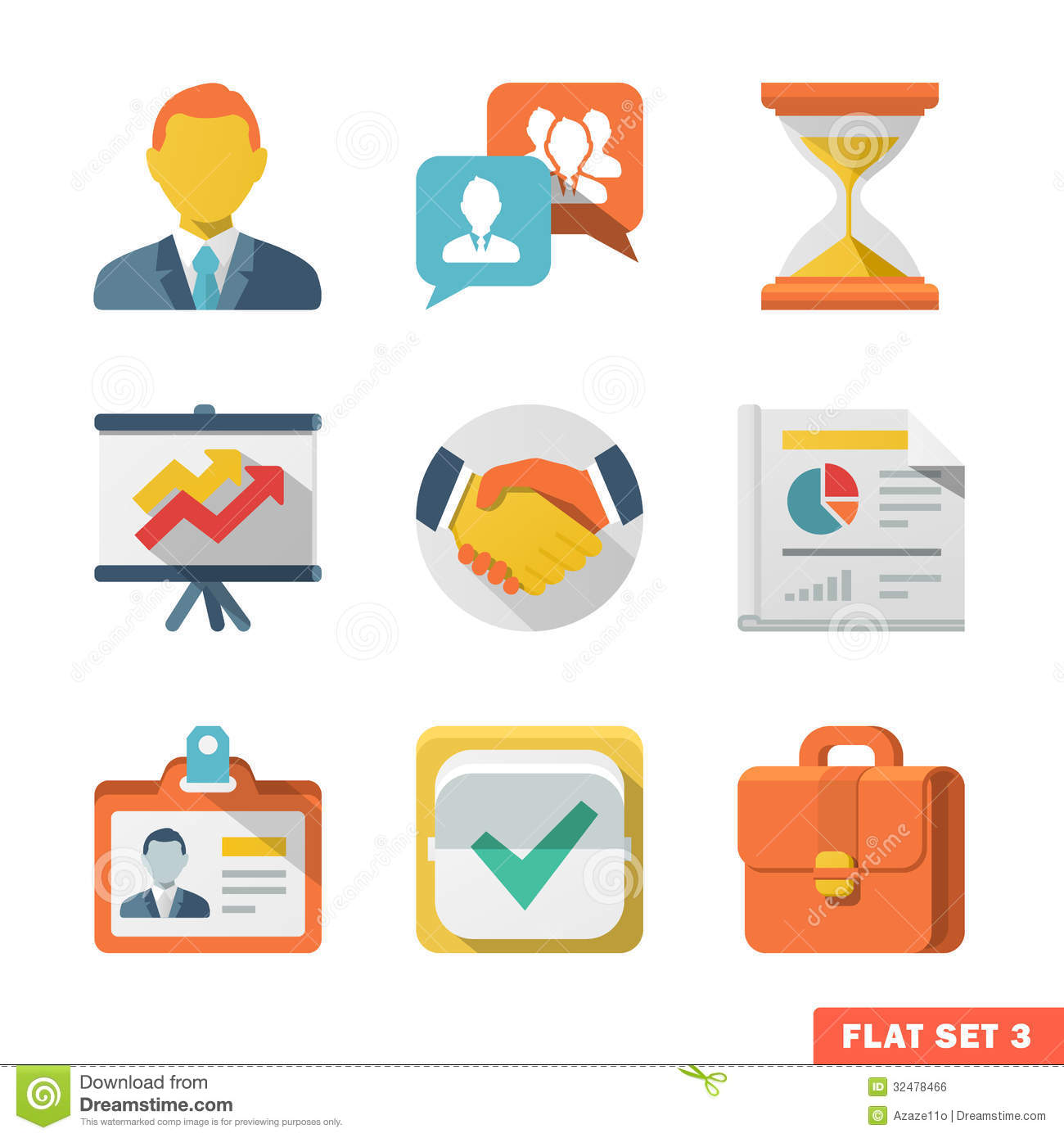 Business Icons Flat