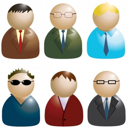 13 Free Vector Business People Icon Images