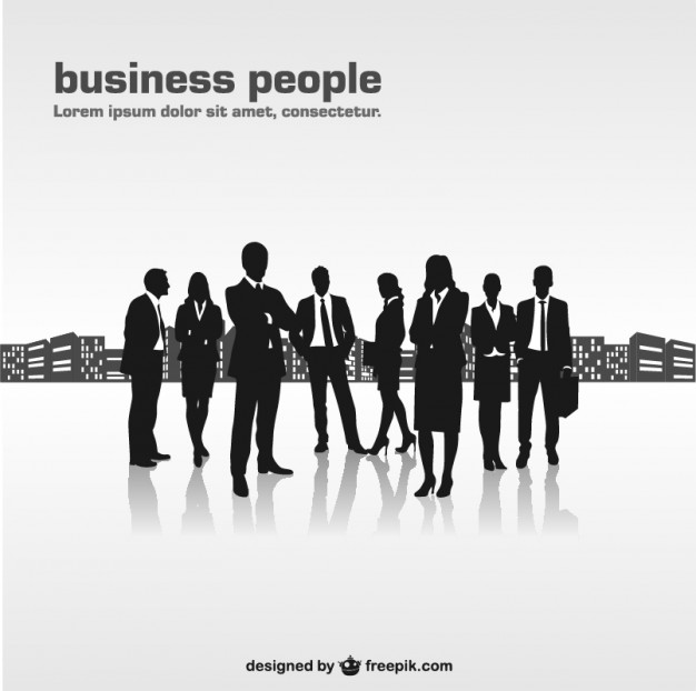 Business People Silhouette Vector Free