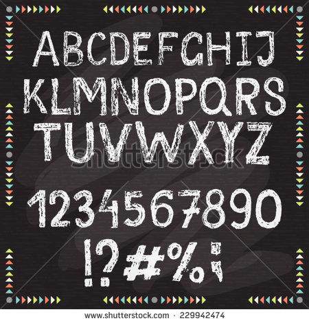 Chalkboard Chalk Alphabet Fonts