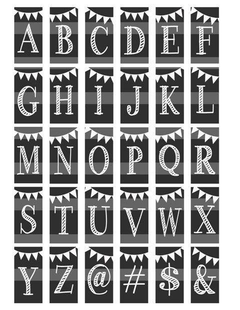 Chalkboard Lettering Alphabet