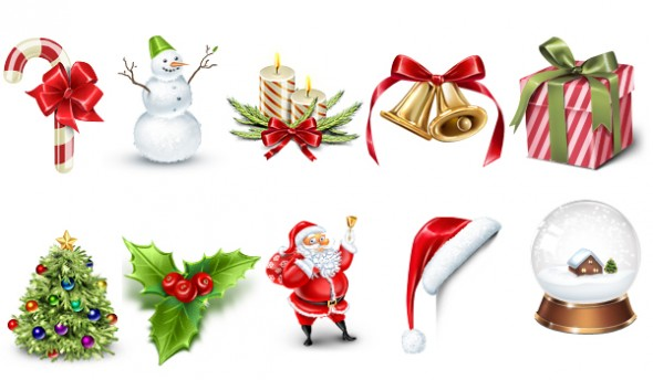 5 Merry Christmas PSD Files Images