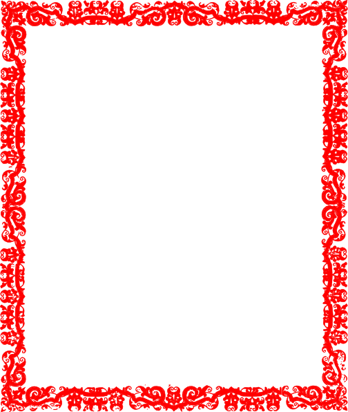 Clip Art Red Borders Designs