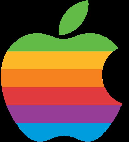 Computer Rainbow Apple Logo