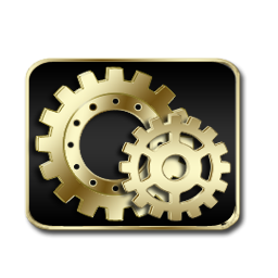 Control Panel Icon Black Gold