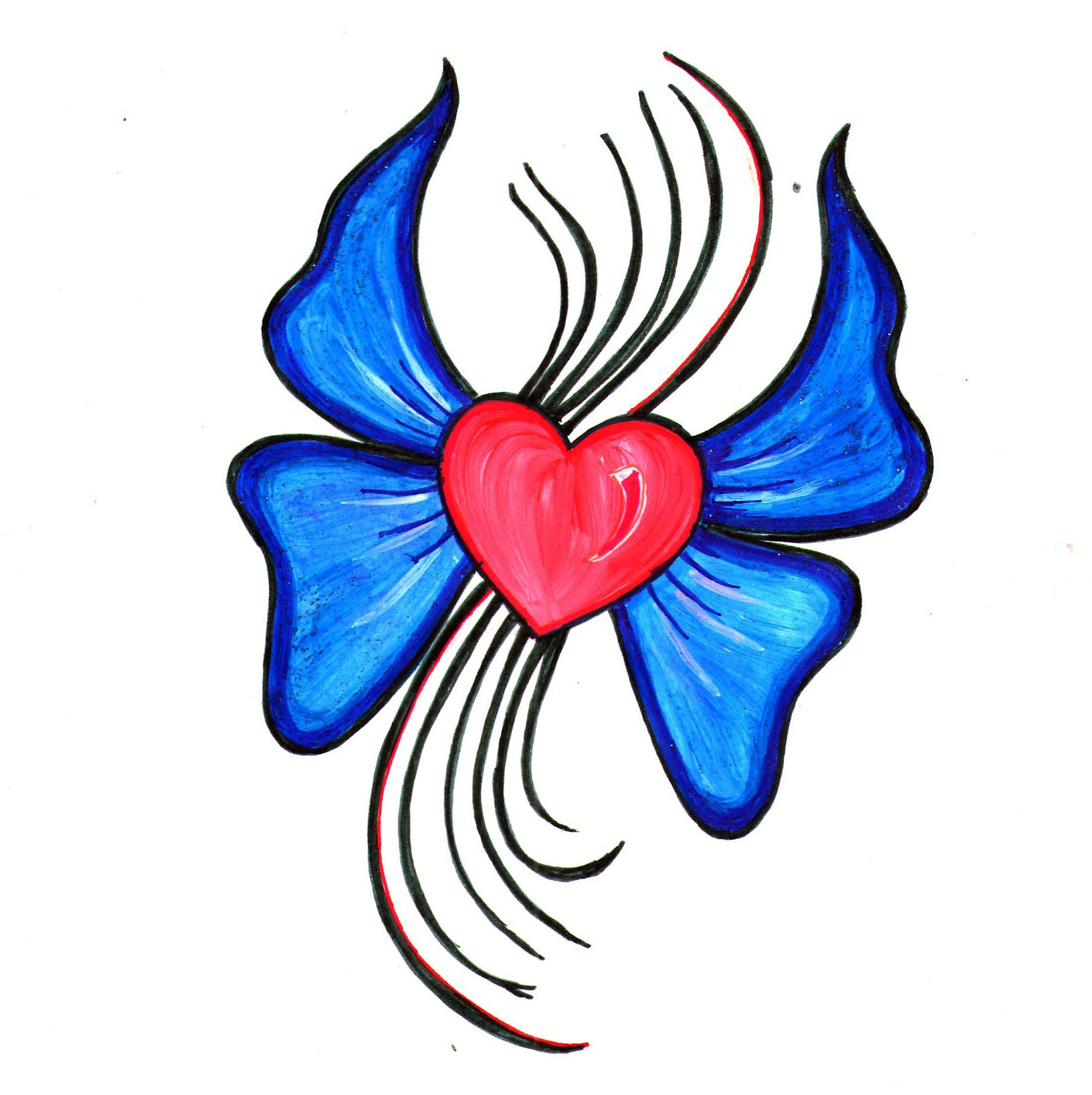 13 easy to draw heart designs images tribal heart tattoo