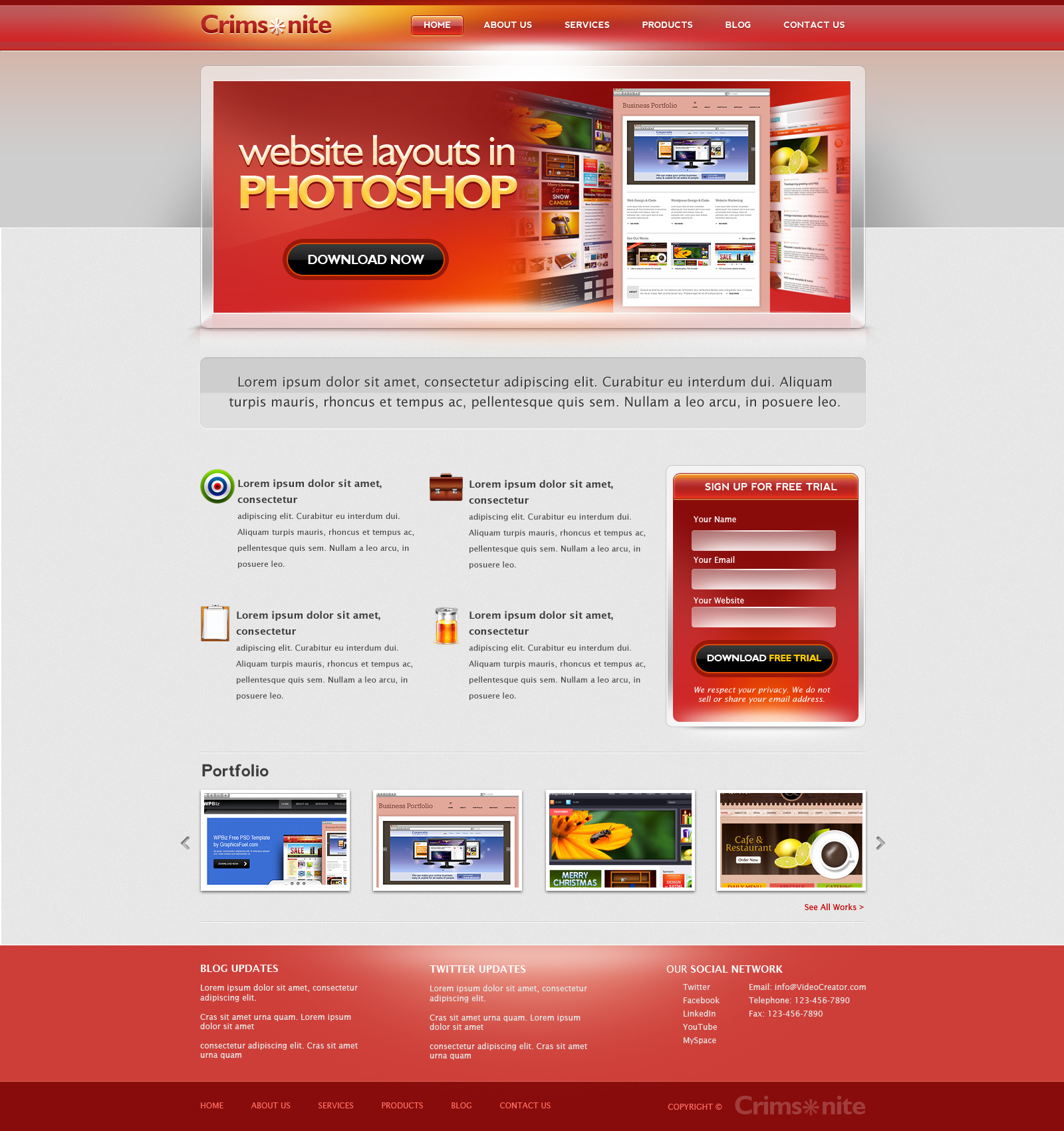 Web Design Templates Psd. 60 free website design template psds ...