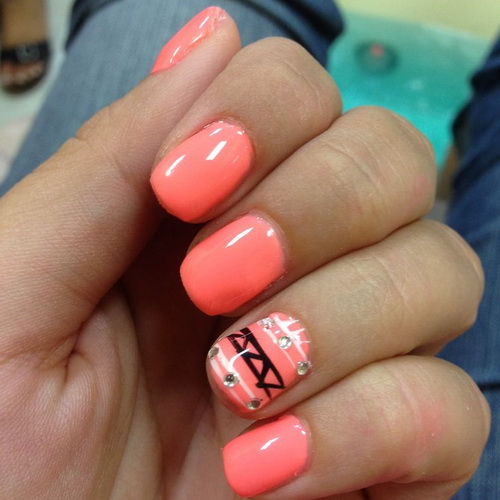 19 Cute Easy Nail Designs For Short Nails Images