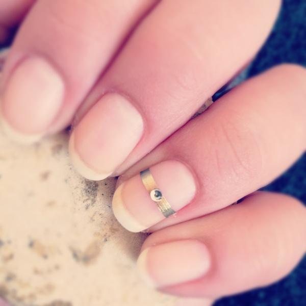 Cute Wedding Nail Art