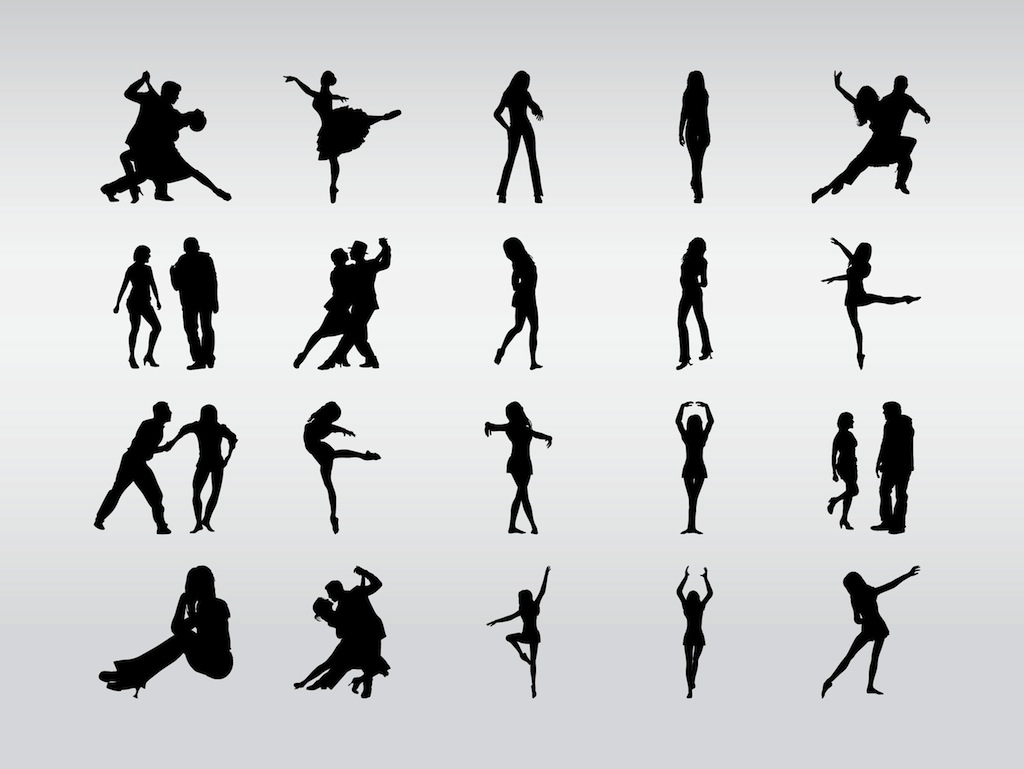 19 Dance Silhouette Vector Images
