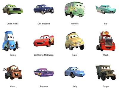 8 Disney Cars Icon Images Disney Pixar Cars Characters Names