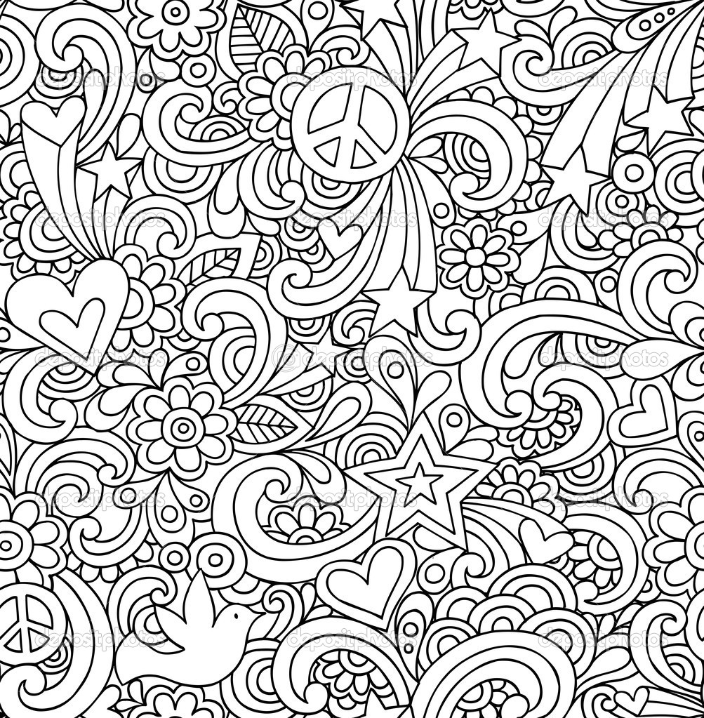 13 Black And White Doodle Design Images