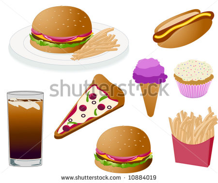 Fast Food Icons Vector Stock
