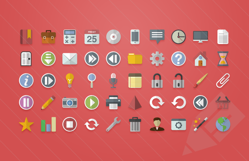 Flat Icons Vector Free