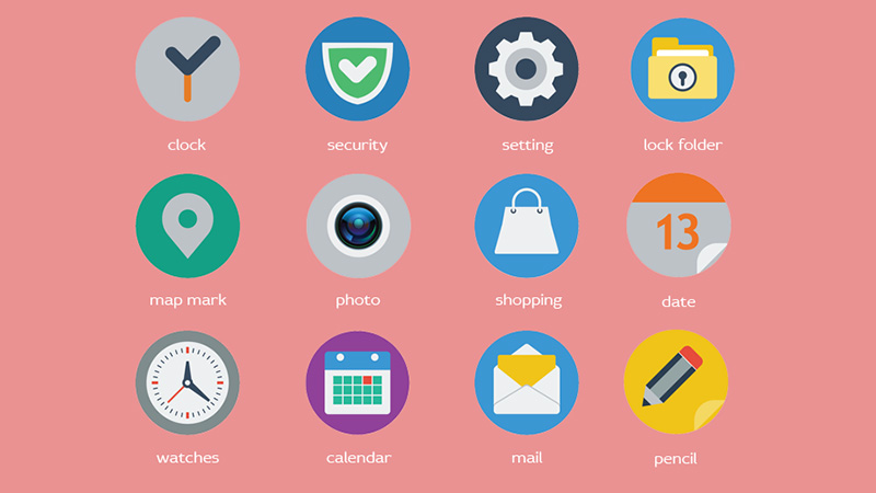 Flat Web Icons Free