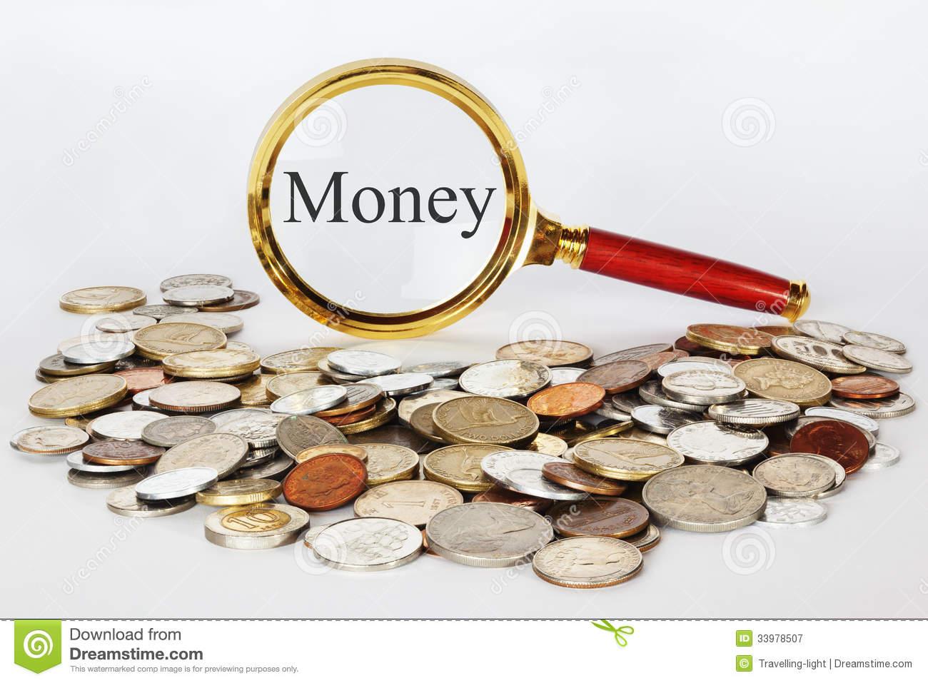Focus Magnifying Glass Money