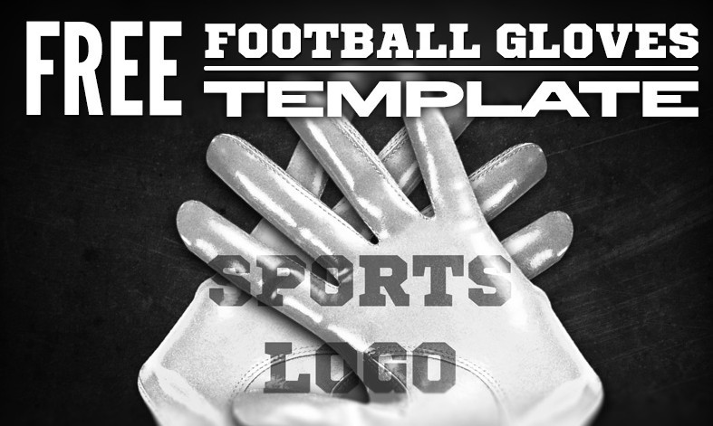 Football Glove Template Mockup PSD