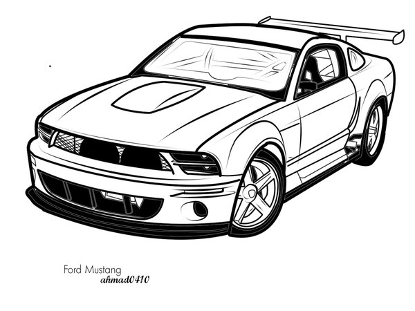 12 Vector Mustang Side Images
