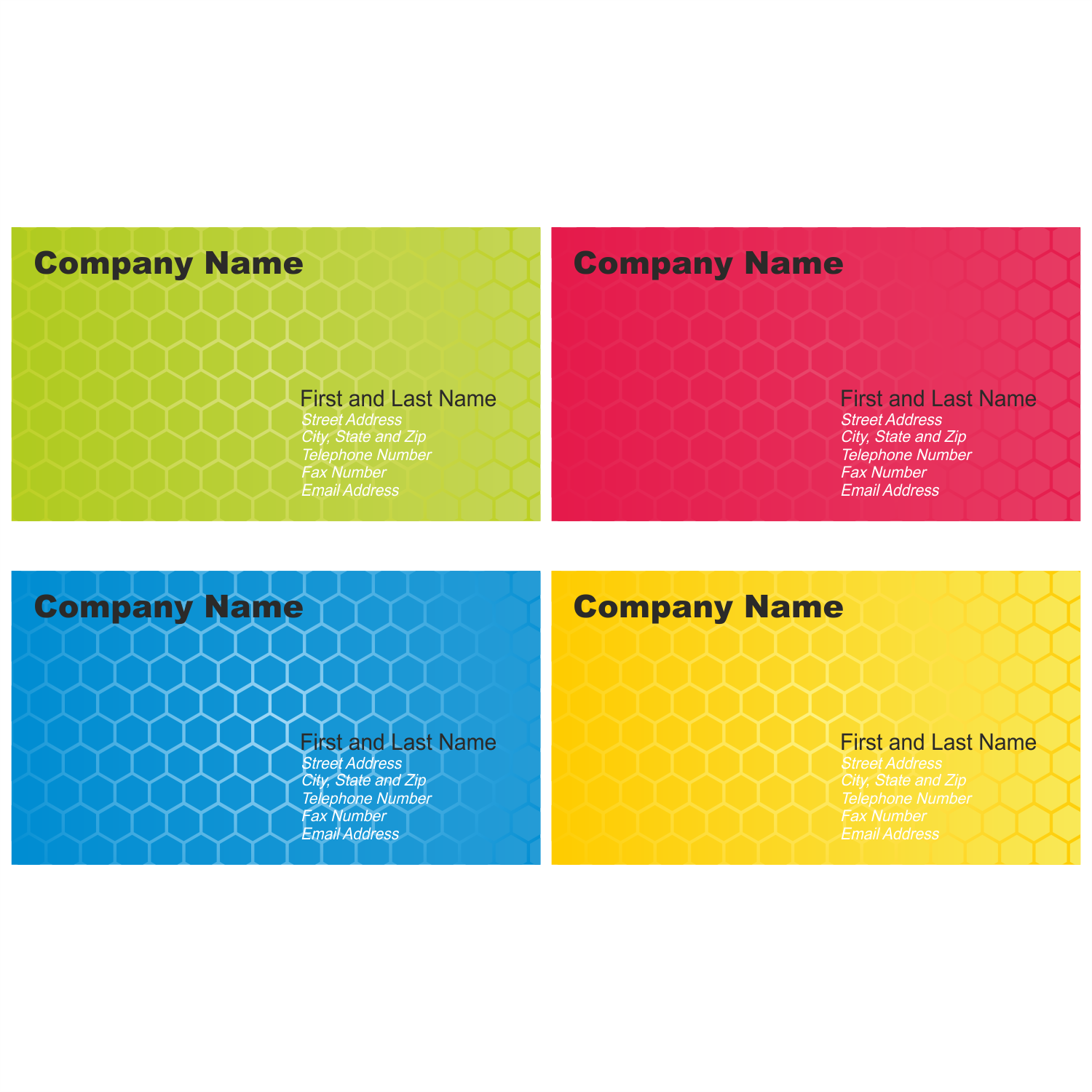 12 Business Card Design Templates Images