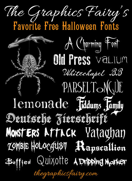 14 Halloween Downloadable Font Images