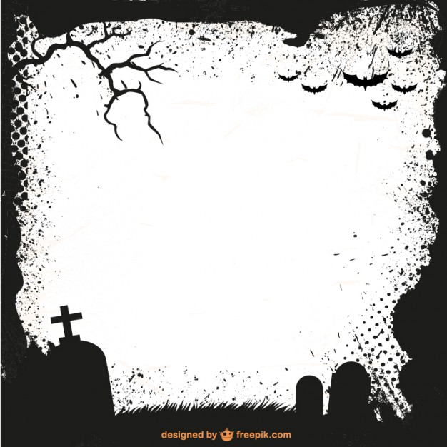 Free Halloween Silhouette Frame