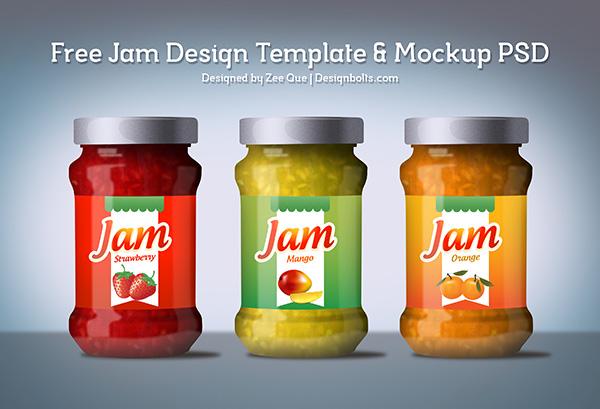 17 Jar Label PSD Images