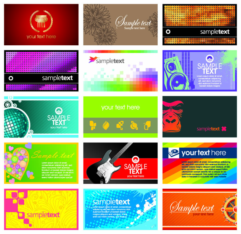 8 name card design template images  free blank business