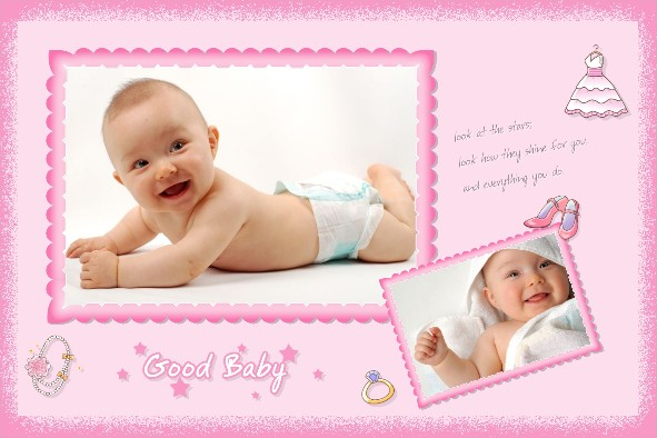 14 PSD Photoshop Templates For Baby Images
