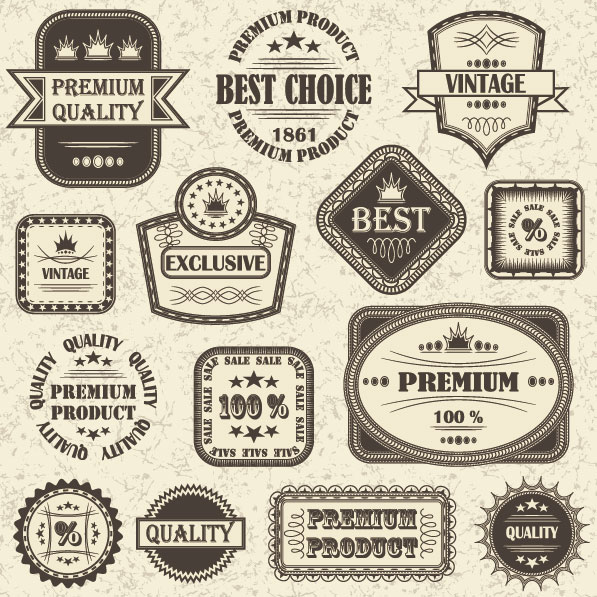 Free Retro Vector Label