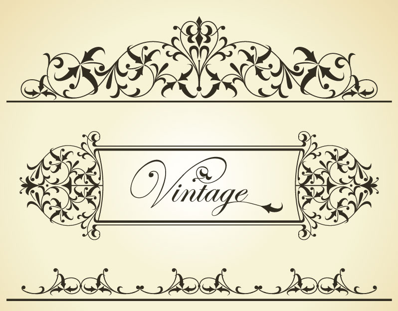 20 Free Vintage Vector Borders Images