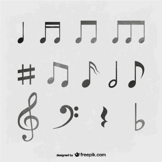 10 Vintage Music Note Vector Images