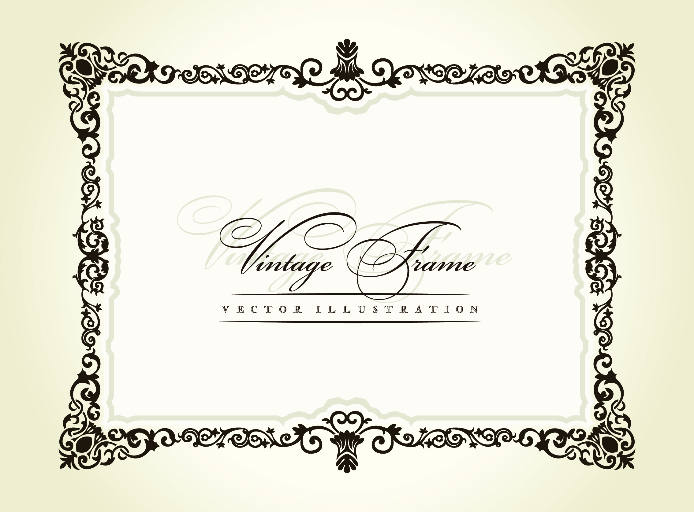 20 Free Vintage Vector Borders Images - Free Vector ...