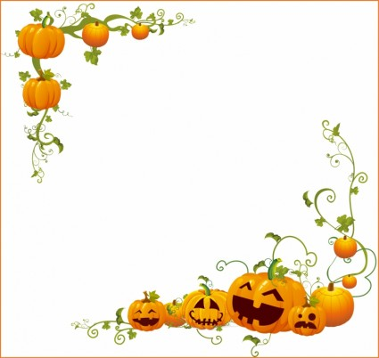 9 Halloween Vector Frame Images