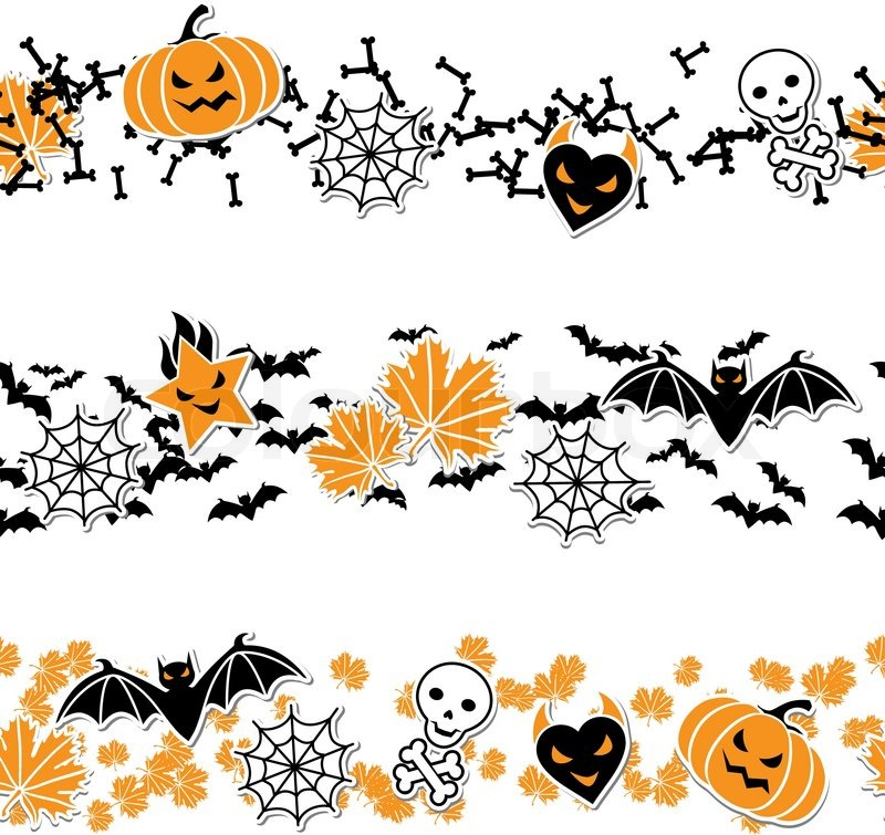 Halloween Vector Borders