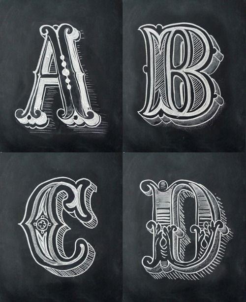 Hand Drawn Chalkboard Alphabet