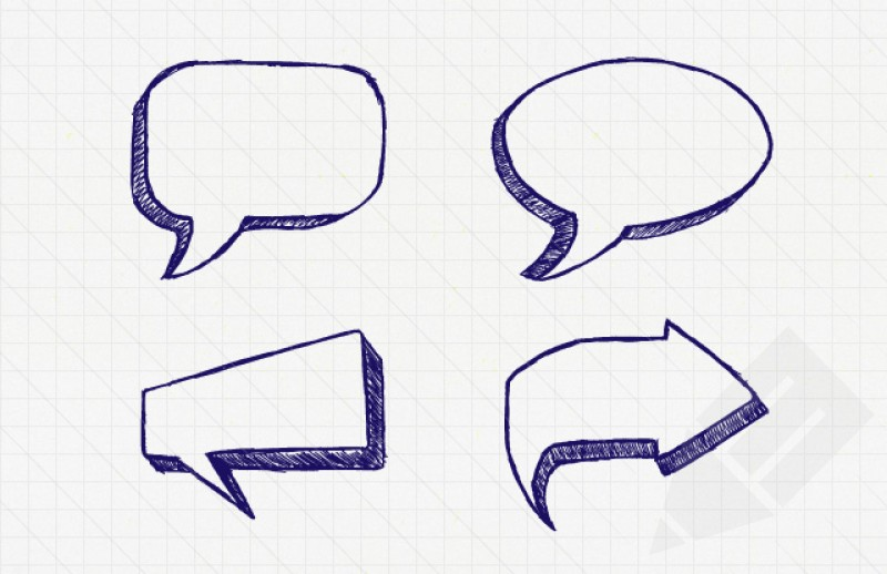15 Icon With Hand Drawn Speech Bubbles Images