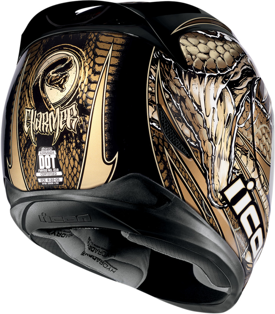 Icon Motorcycle Helmets Black and Gold
